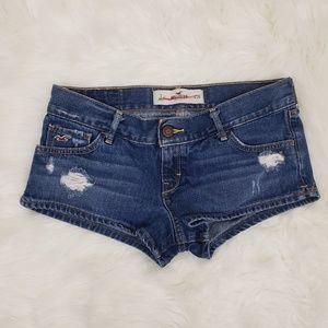 Hollister Distressed Medium Wash Denim Jean Shorts